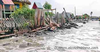 Moñitos, en peligro por la erosión marítima - El Colombiano
