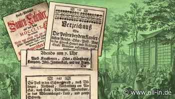 Aus der Verkehrsgeschichte Immenstadts I: Fahrplan München - Immenstadt 1759 - Immenstadt i. Allgäu - all-in.de - Das Allgäu Online!
