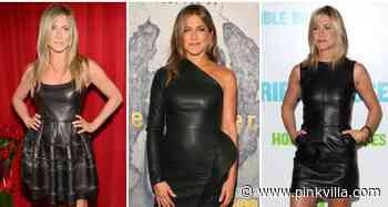 Jennifer Aniston can't get enough of leather dresses; 4 times she SLAYED in it & showed how to style it right - PINKVILLA