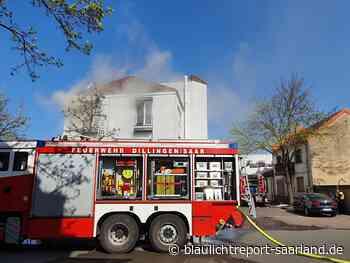 AKTUELL: Massiver Wohnhausbrand in der Marktstraße in Dillingen - Blaulichtreport-Saarland