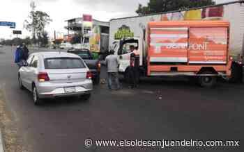 Fuerte choque ocurrió en Valle de Oro - El Sol de San Juan del Río