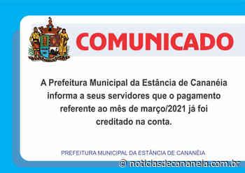 Prefeitura Municipal de Cananeia antecipa o pagamento do salário dos servidores, efetuado no início da tarde desta segunda-feira (05). - Noticia de Cananéia