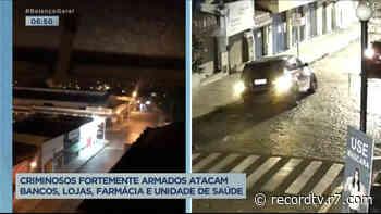 Criminosos promovem madrugada de terror em Mococa (SP) - Record TV