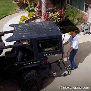 Rolling gadget makes removing Jeep hardtop easy - Yahoo News