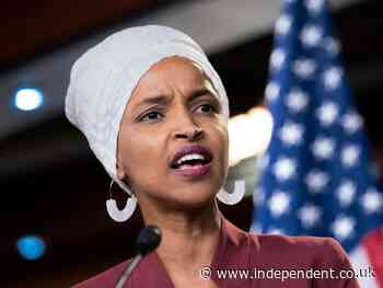Ilhan Omar says it's 'shameful and unacceptable' for Biden to continue building Trump's wall