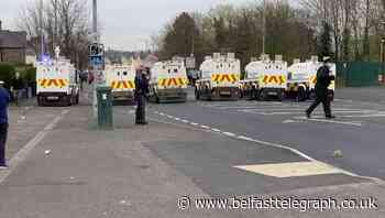 Belfast Telegraph photographer attacked during disorder at interface area in west Belfast