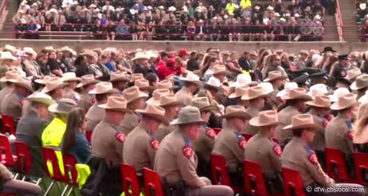 Thousands Gather To Honor Slain Texas Trooper Chad Walker In Hometown