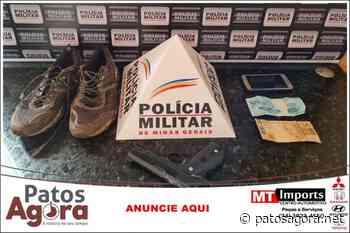 PM de Monte Carmelo prende suspeito de roubo e recupera materiais - Patos Agora