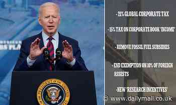Joe Biden defends his $2.5tn infrastructure bill and business tax hikes