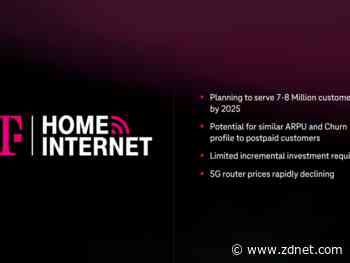 T-Mobile launches 5G home internet service, a stealth remote, home office play