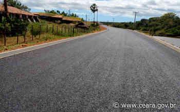 Novo trecho da CE-371 entre Aracati e Itaiçaba está pronto para receber sinalização - Ceará