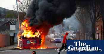 Bus set on fire in Belfast on sixth night of unrest in Northern Ireland