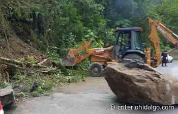 Atiende PC deslave en la carretera Tenango-San Bartolo - Criterio Hidalgo