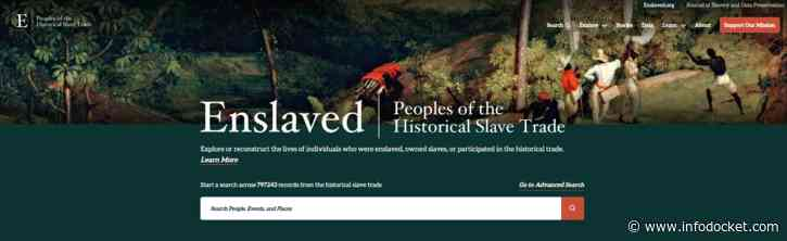 $1.4 Million Andrew W. Mellon Foundation Grant Expands Enslaved.org Research