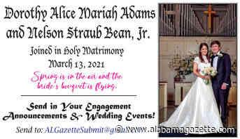 Dorothy Alice Mariah Adams and Nelson Straub Bean, Jr.
