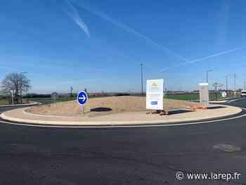 Route d'isdes - Le carrefour giratoire est sorti de terre - La République du Centre
