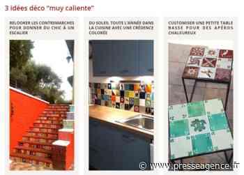 EGUILLES : Des Azulejos mexicains pour dynamiser et donner du style avec Amadera - La lettre économique et politique de PACA - Presse Agence