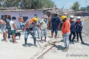 Denuncian fallas en obra del distrito de Marcavelica - Diario El Tiempo | Piura | Noticias