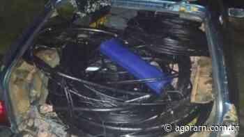 PM recupera 150 kg de fios furtados e prende suspeitos em Extremoz, na Grande Natal - Agora RN