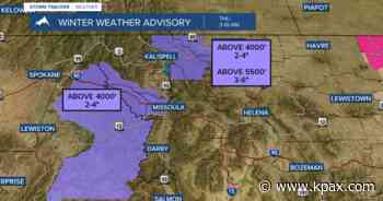 Winter weather returns to Western Montana Thursday morning Read forecast - KPAX-TV