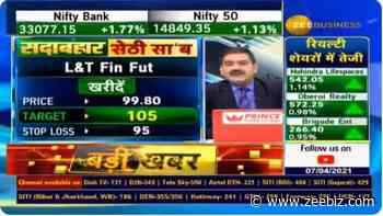 In chat with Anil Singhvi, analyst Vikas Sethi recommends L&T Finance futures; remains bullish in the s... - Zee Business