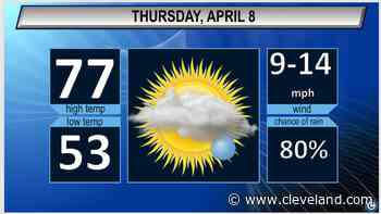 Rain chances return Thursday afternoon: Cleveland, Akron weather forecast - cleveland.com