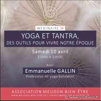 Yoga et tantra, des outils pour vivre notre époque En ligne samedi 10 avril 2021 - Unidivers