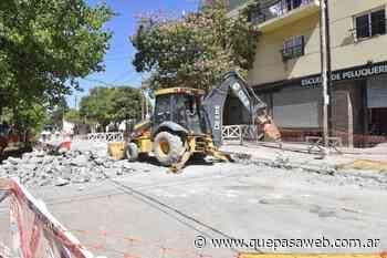 Pavimentan y realizan una obra hidráulica en Los Polvorines - Que Pasa Web