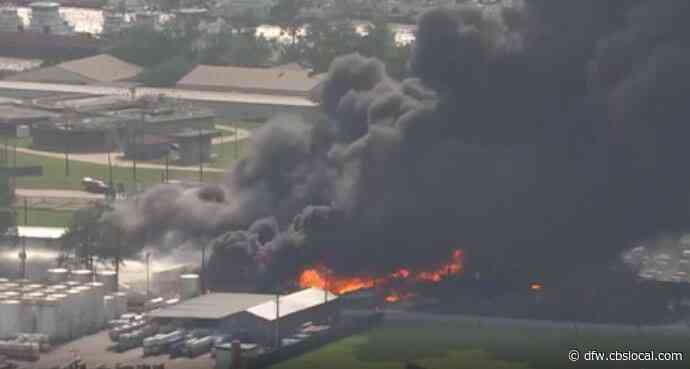 Massive Fire Burns For Hours At Texas Chemical Distribution Company