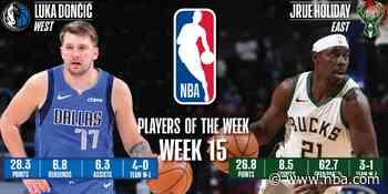 Luka Doncic, Jrue Holiday named NBA Players of the Week - NBA.com