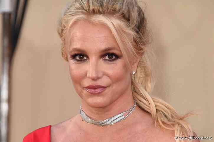 Britney Spears Rocks Sheer, Leopard-Print Catsuit, Green Miniskirt in Quick-Change Fashion Video