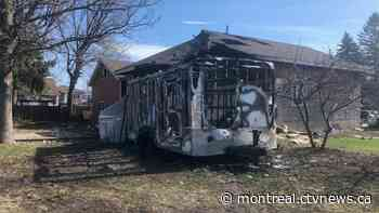 Longueuil police investigate suspicious fire that starting in trailer behind home - CTV Montreal