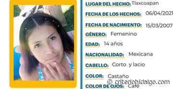 Se busca a Angie Michelle Rocío Valera Ángeles, extraviada en Tlaxcoapan - Criterio Hidalgo