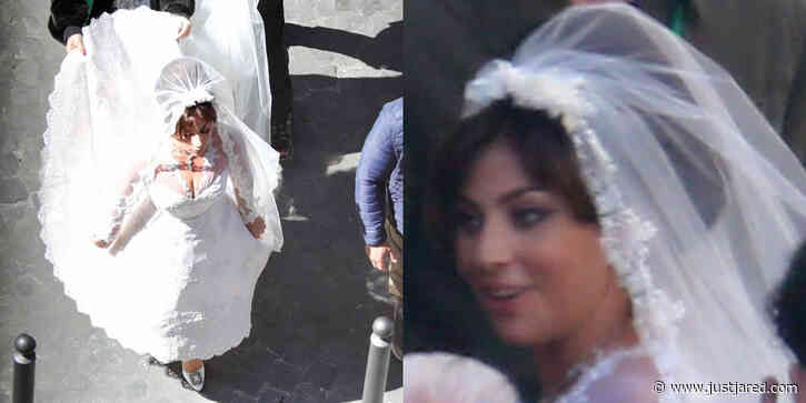 Lady Gaga Wears Wedding Gown for 'House of Gucci' Scene!