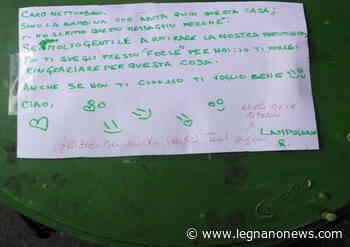 Bimba ringrazia il netturbino con una lettera. ALA: «Parole che scaldano il cuore» - LegnanoNews