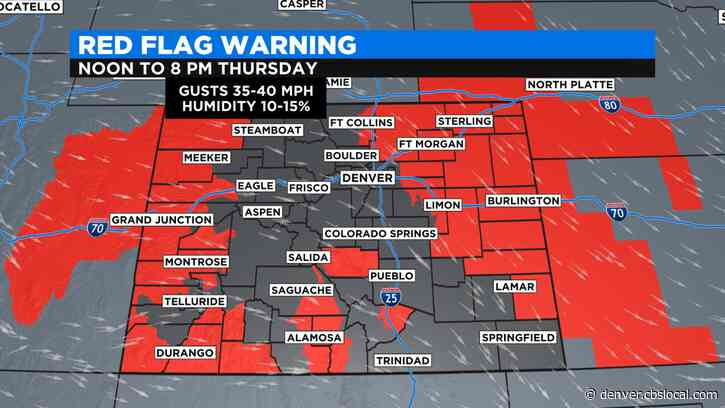 Colorado Weather: Red Flag Warning In Effect In Windy, Dry Conditions