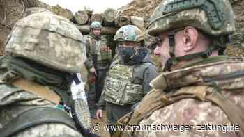 Ukraine: Präsident besucht Soldaten an der Front - Merkel telefoniert mit Putin