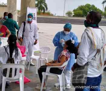 Toma de muestras para COVID-19 en la plaza de Majagual de Sincelejo - El Universal - Colombia