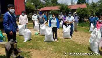 Entregan insumos para mejorar la productividad rural en Nátaga - Huila