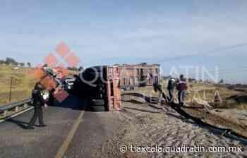Provoca severo caos vial volcadura de un tráiler en Calpulalpan 12:21 TLAXCALA, Tlax., 7 de - Quadratín Tlaxcala