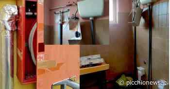 """Tolentino, raid dei vandali alla scuola """"Grandi"""": bagni devastati e scritte oscene sulle lavagne - Picchio News"""