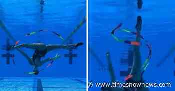 'Stunning and Artistic': Woman does rhythmic gymnastics underwater, beautiful act goes viral [WATCH] - Times Now