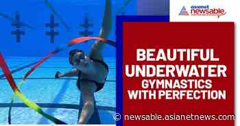 Woman doing underwater gymnastics; Video goes viral - Asianet Newsable