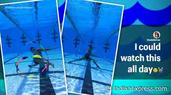 Woman's video of underwater gymnastics is a hit on social media - The Indian Express