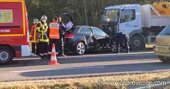 Caumont-sur-Durance : violent choc frontal sur la D900 - La Provence