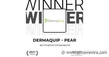 """DermaQuip - PEAR receives """"Best Technology for Skin Analysis"""" in the Aesthetic Everything® Aesthetic and Cosmetic Medicine Awards 2021 - PRNewswire"""