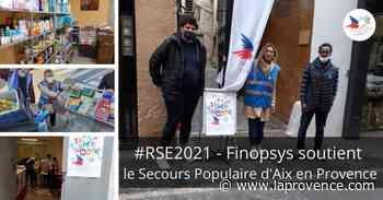 Aix-en-Provence : Finopsys s'engage en faveur du Secours Populaire - La Provence