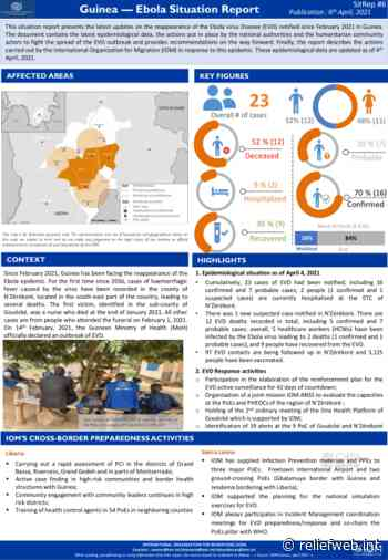 Guinea — Ebola Situation Report #6 Publication : 6 April 2021 - Guinea - ReliefWeb