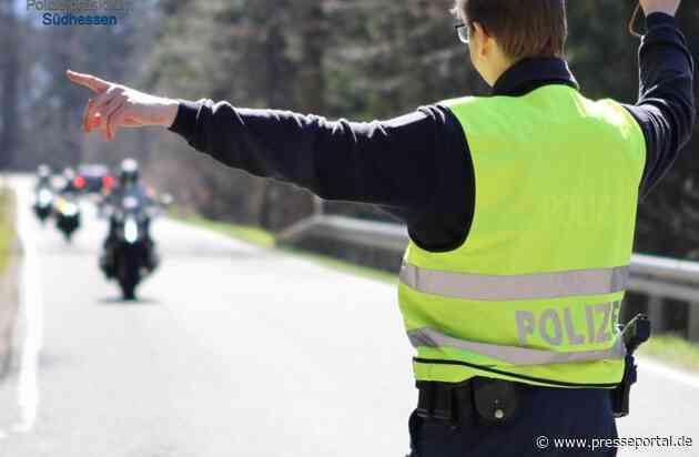 POL-DA: Südhessen/Darmstadt: Polizei kontrolliert zum Start der Bike-Saison 2021/Vermeidbarer Lärm und riskante Fahrweise im Fokus