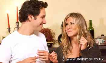 Jennifer Aniston pokes fun at Paul Rudd's ageless looks in hilarious birthday tribute - Daily Mail